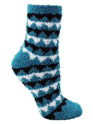 Aztec Triangle Print 6-Pack Assorted Soft Fuzzy Socks