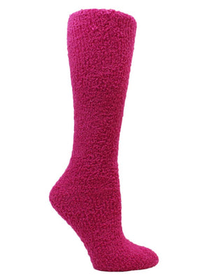 Solid Color Assorted 6-Pack Knee High Fuzzy Socks