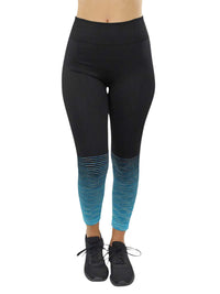 Ombre Striped Workout Leggings