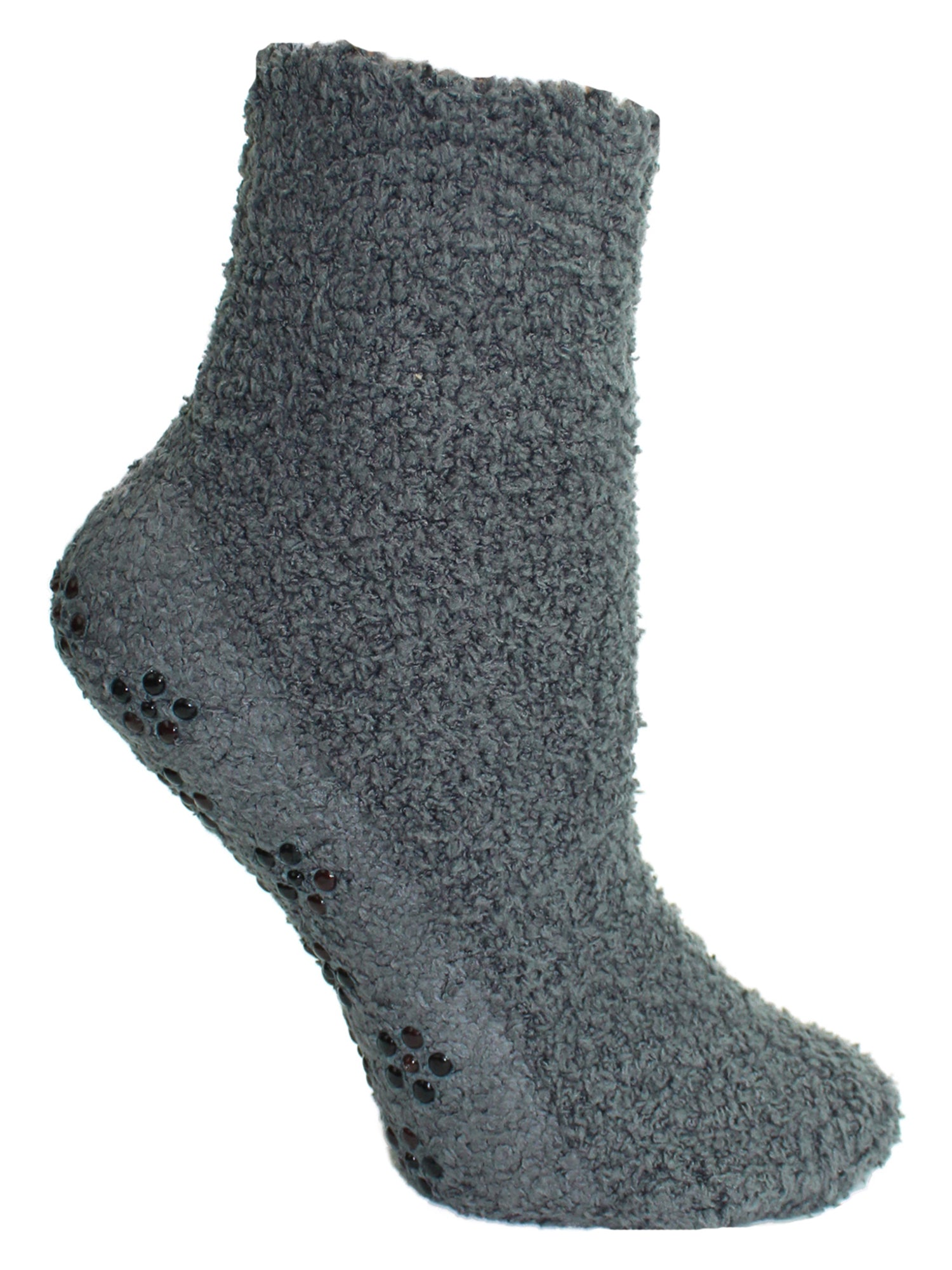 Dark Colors Non Skid 6 Pack Fuzzy Socks