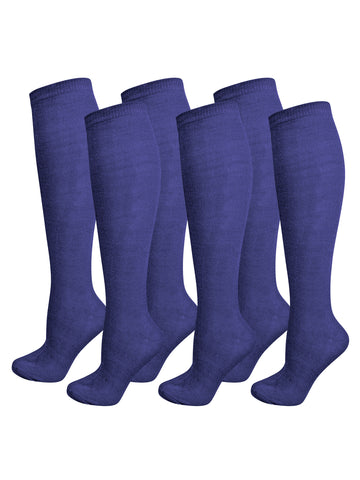 Bundled 6 Pack Lot Knee High Socks For Women