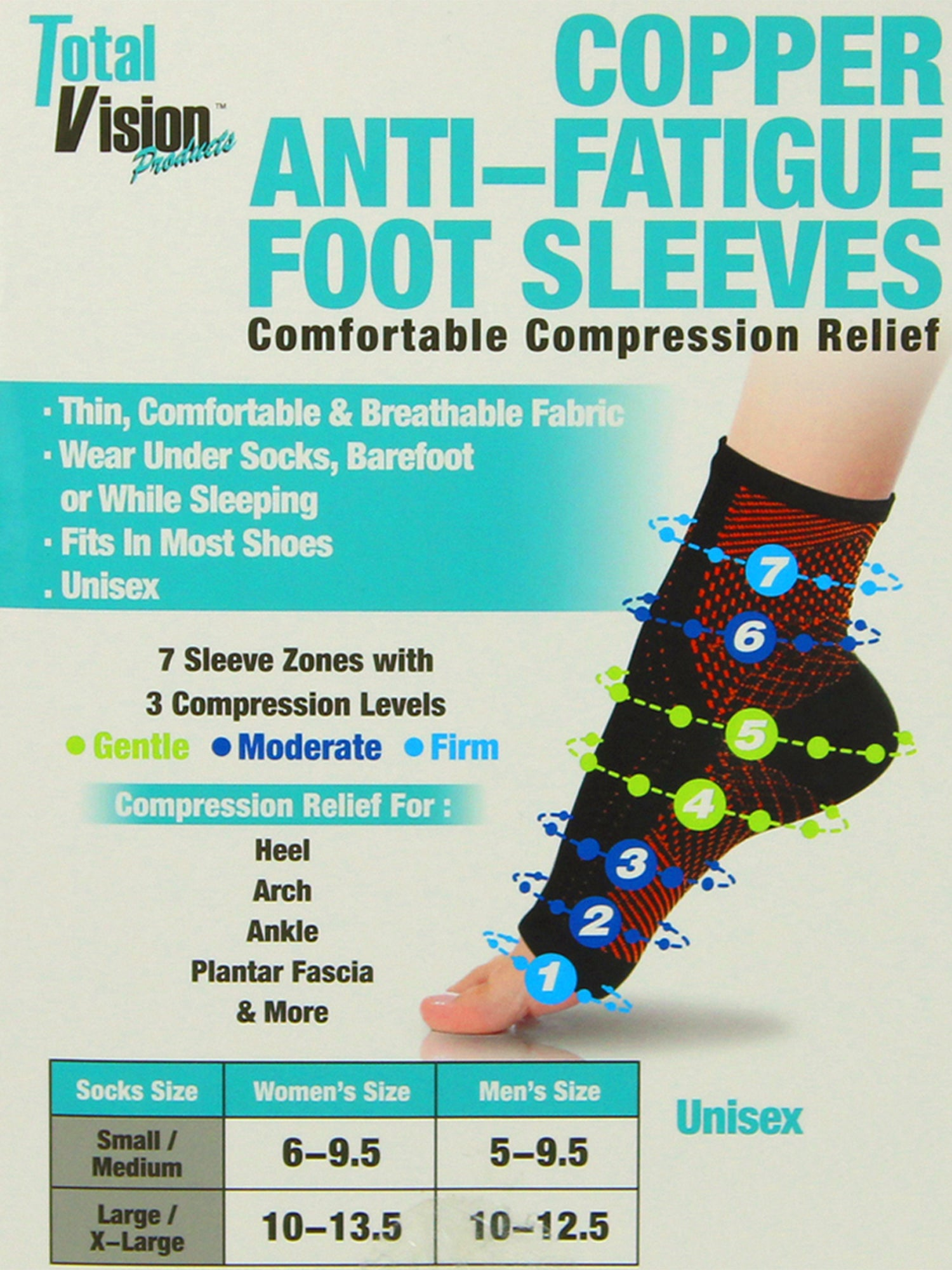 Copper Compression Recovery Foot Support Socks