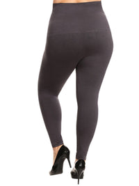 Charcoal Gray Compression Plus Size Leggings