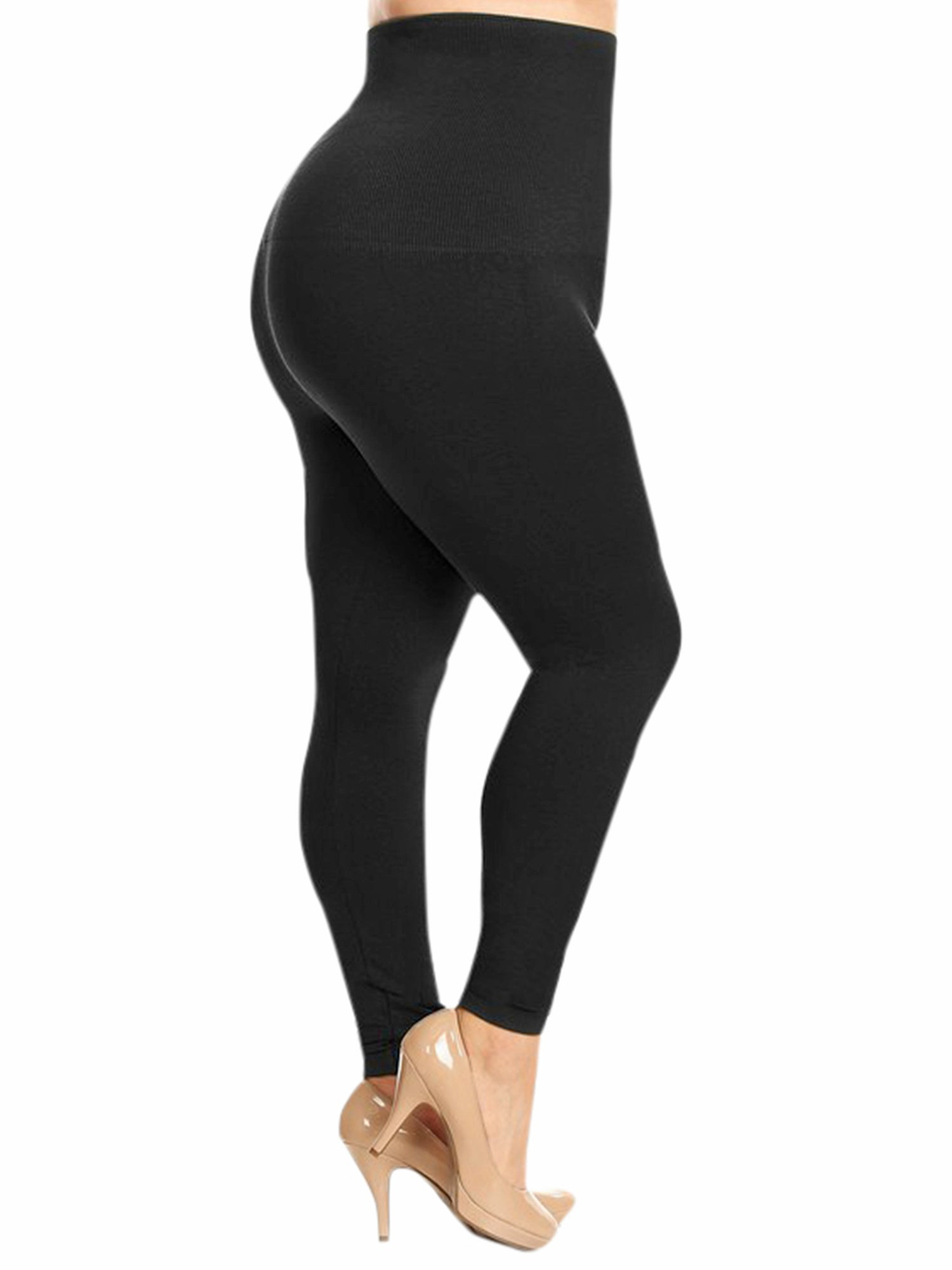 Black Compression Plus Size Leggings