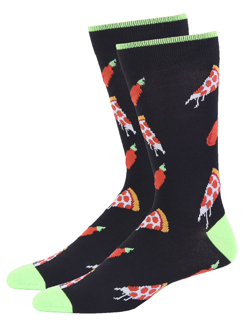 Beer Football And Pizza 2 Pack Dress Crew Socks