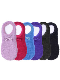 Multicolor Ballet Slipper Non-Slip 6 Pack Socks