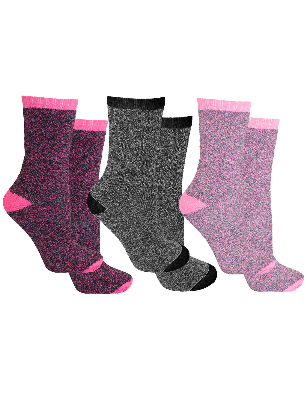 Warm Mega Thermal Heated 3 Pack Womens Socks