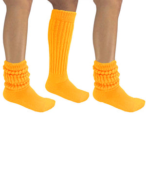 Yellow All Cotton 3 Pack Heavy Super Slouch Socks
