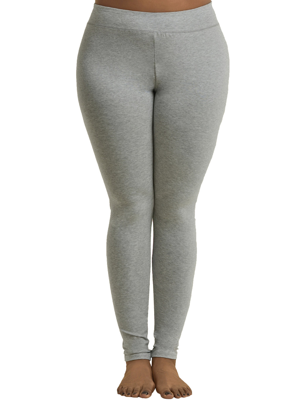 Heather Gray Womens Plus Size Full Length Leggings