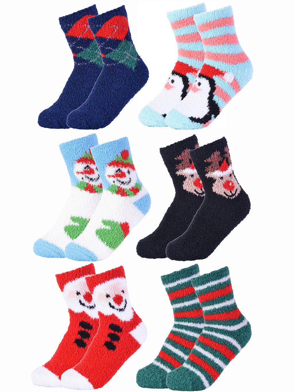 Holiday 6 Pack Crew Socks