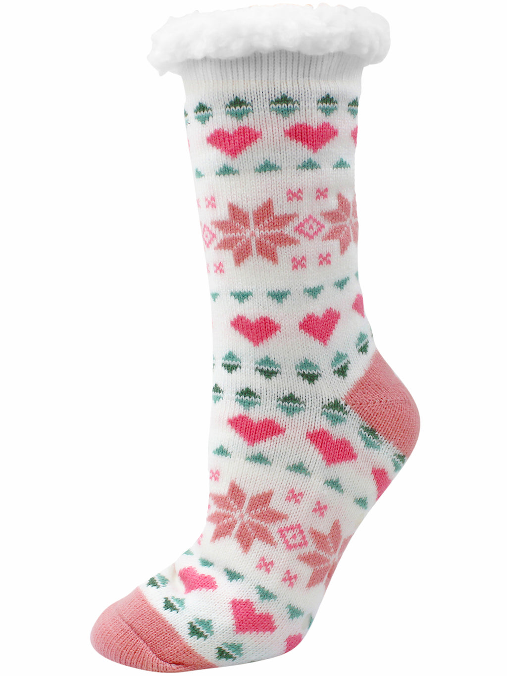 Black & Pink Snowflake 2-Pack Slipper Socks