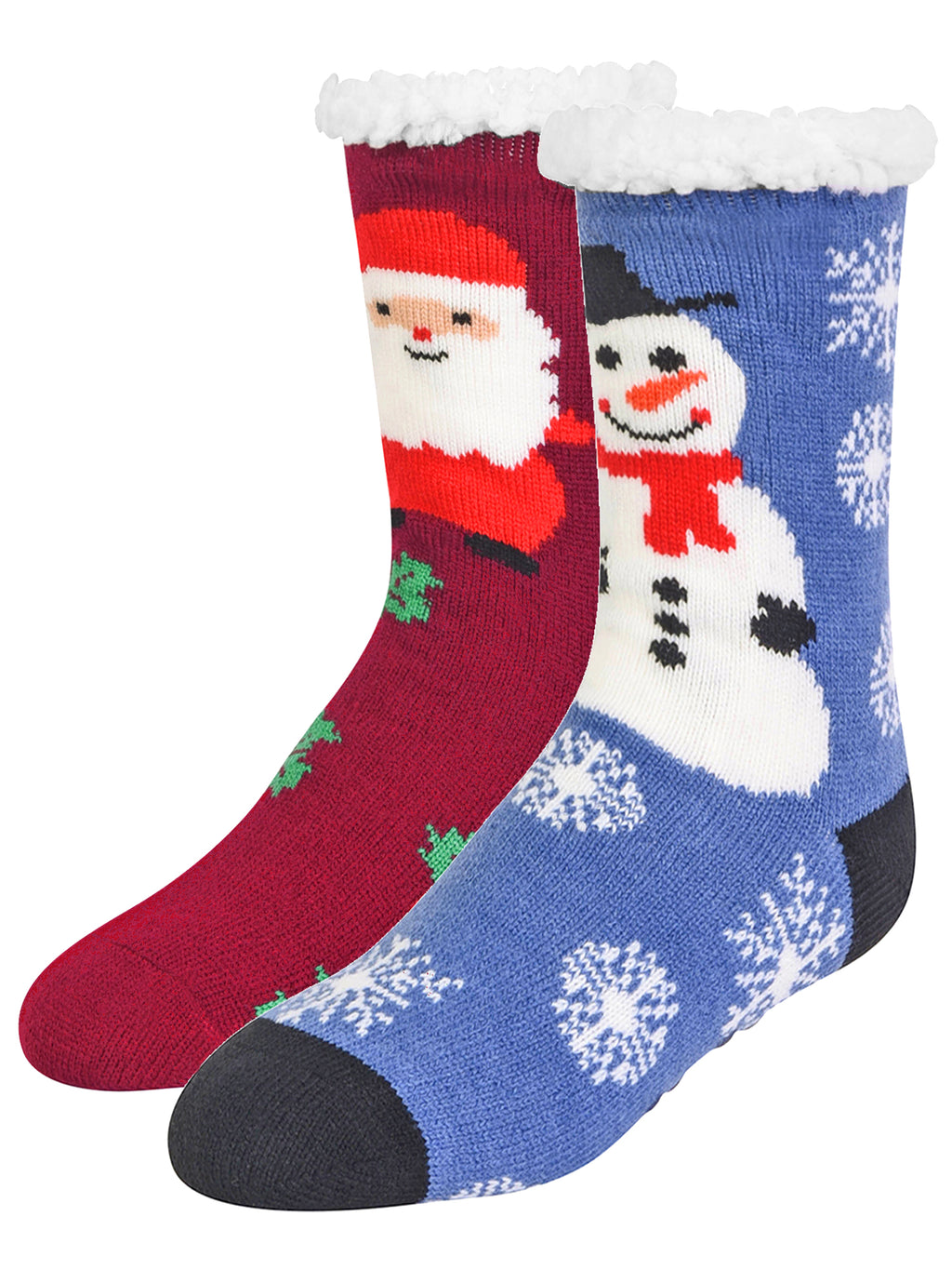 Santa & Frosty 2-Pack Slipper Socks