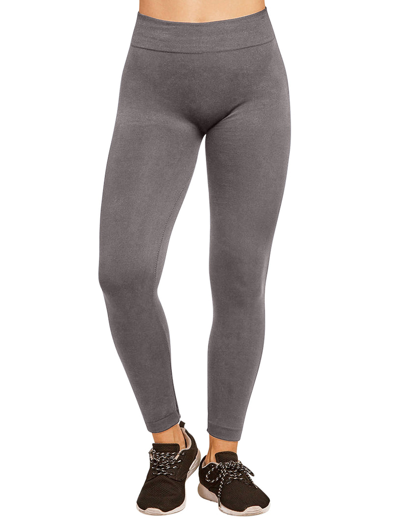Charcoal Gray Fleece Lined Leggings