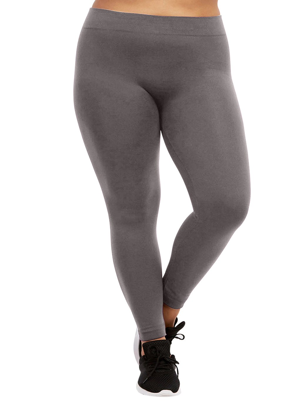 Plus Size Charcoal Gray Fleece Lined Leggings