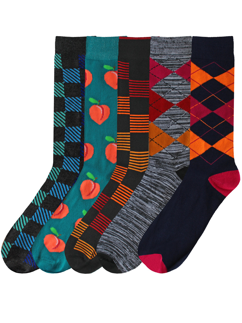 Mens Game Crazy 5-Pack Dress Socks