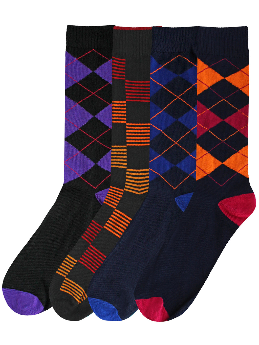 Argyle & Checker Mens 4-Pack Dress Socks