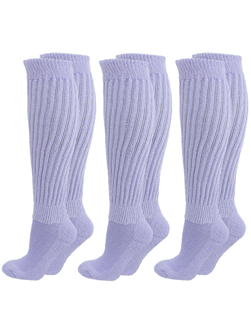 All Cotton 3 Pack Extra Heavy Slouch Socks