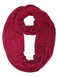 Magenta Lightweight Jersey Knit Ring Scarf
