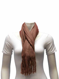 Long Unisex Simple Neck Scarf With Fringe