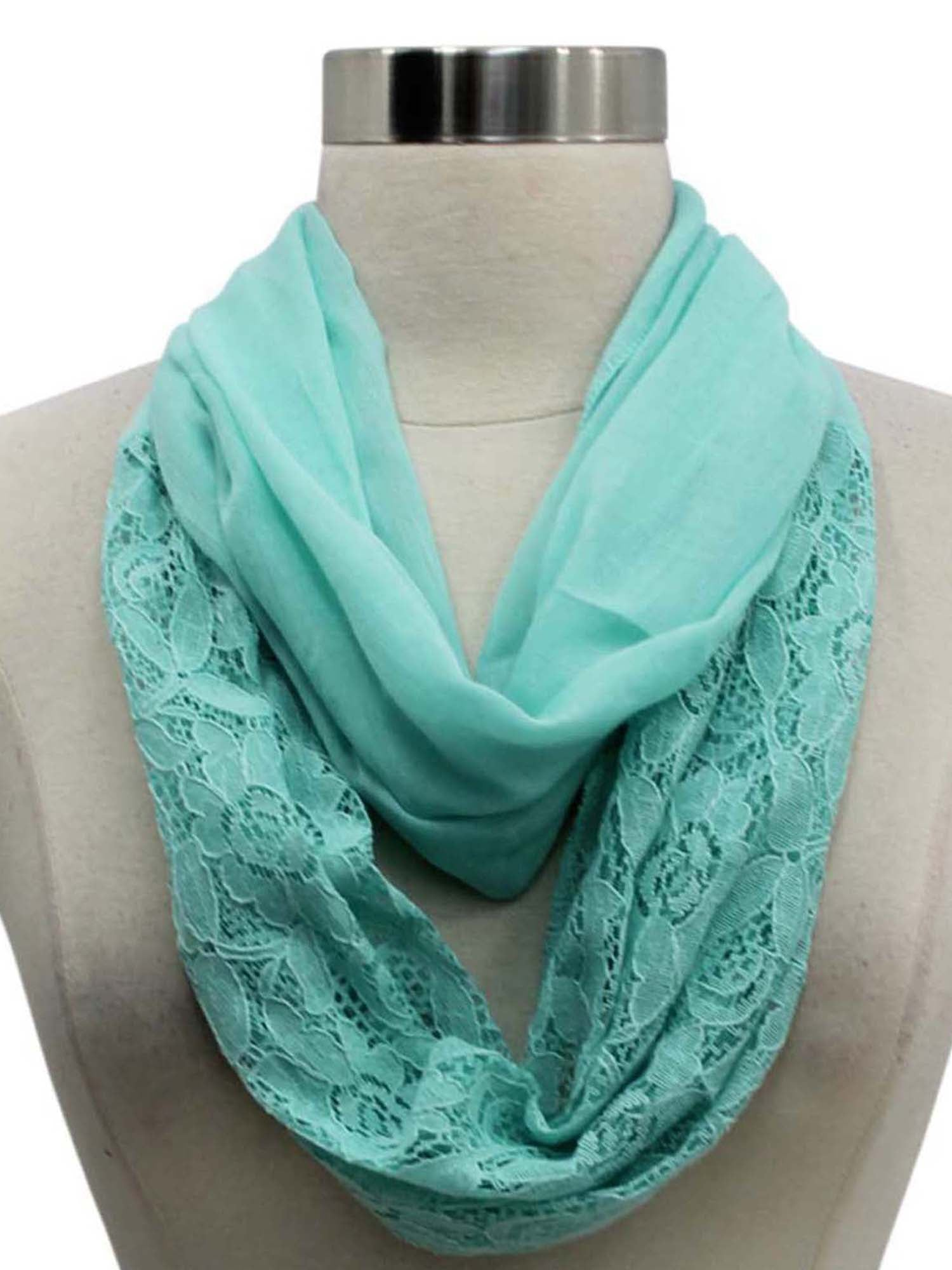 Lightweight Lace Circle Scarf