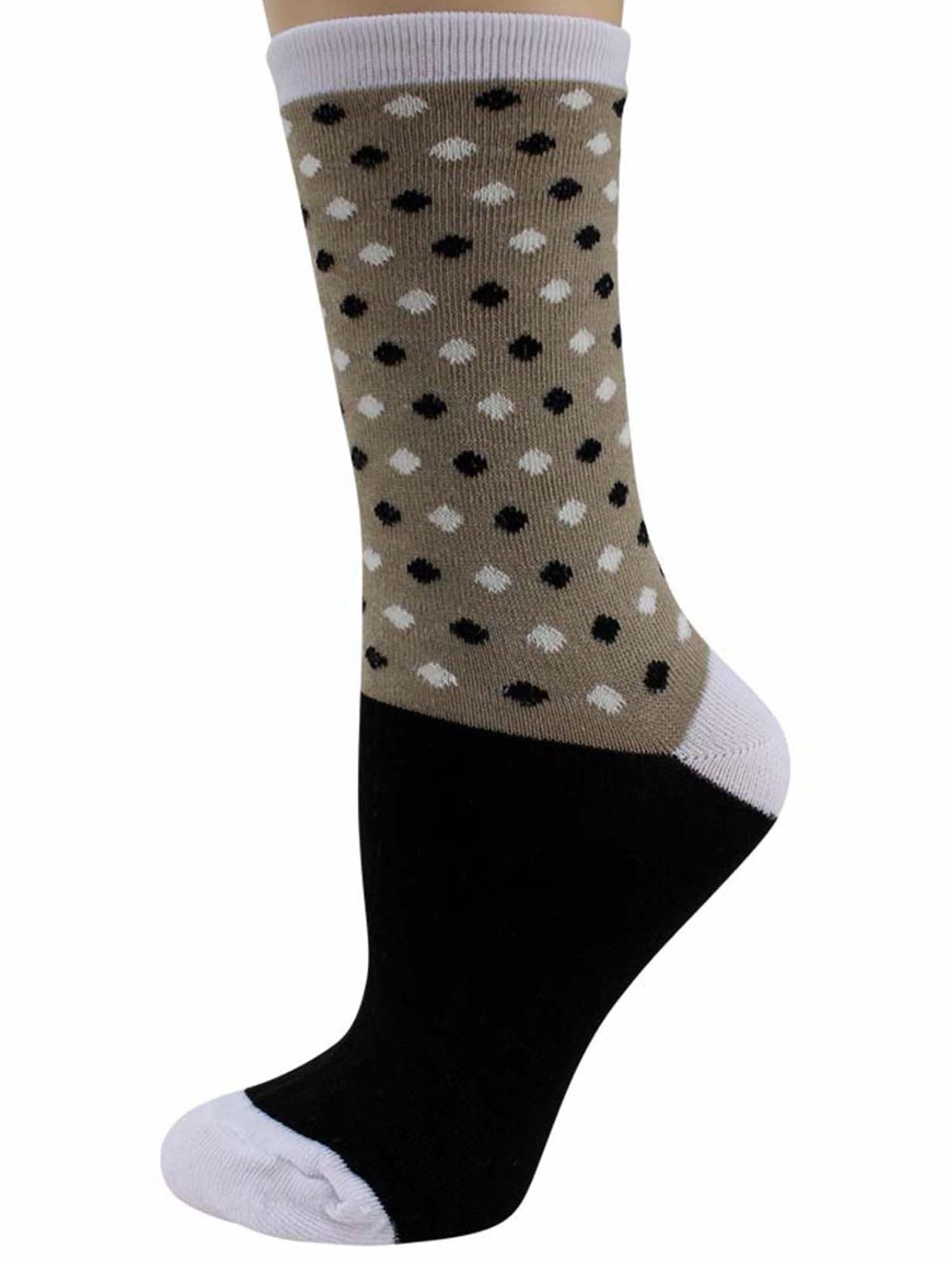 Diamond Multicolor Womens 6 Pack Crew Socks