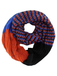 Colorful Pattern Winter Knit Unisex Infinity Scarf