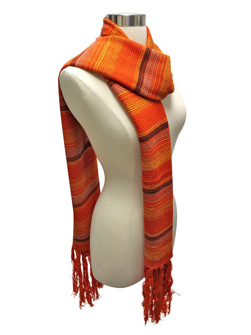 Bohemian Striped Knit Unisex Winter Scarf