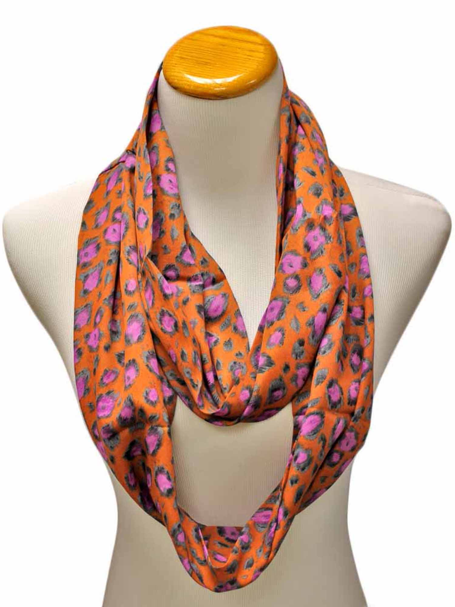 Multicolor Animal Print Infinity Scarf