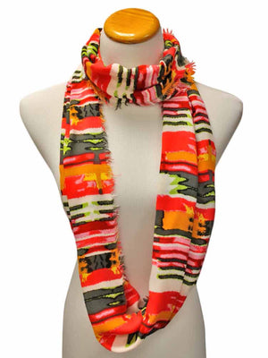 Multicolor Print Infinity Scarf