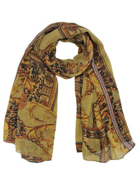 Regal Filigree Print Scarf Shawl