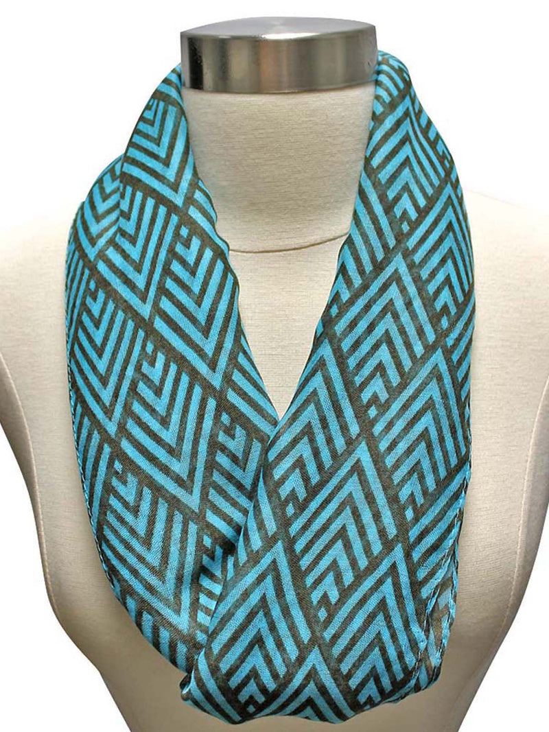 Art Deco Pattern Circle Infinity Scarf