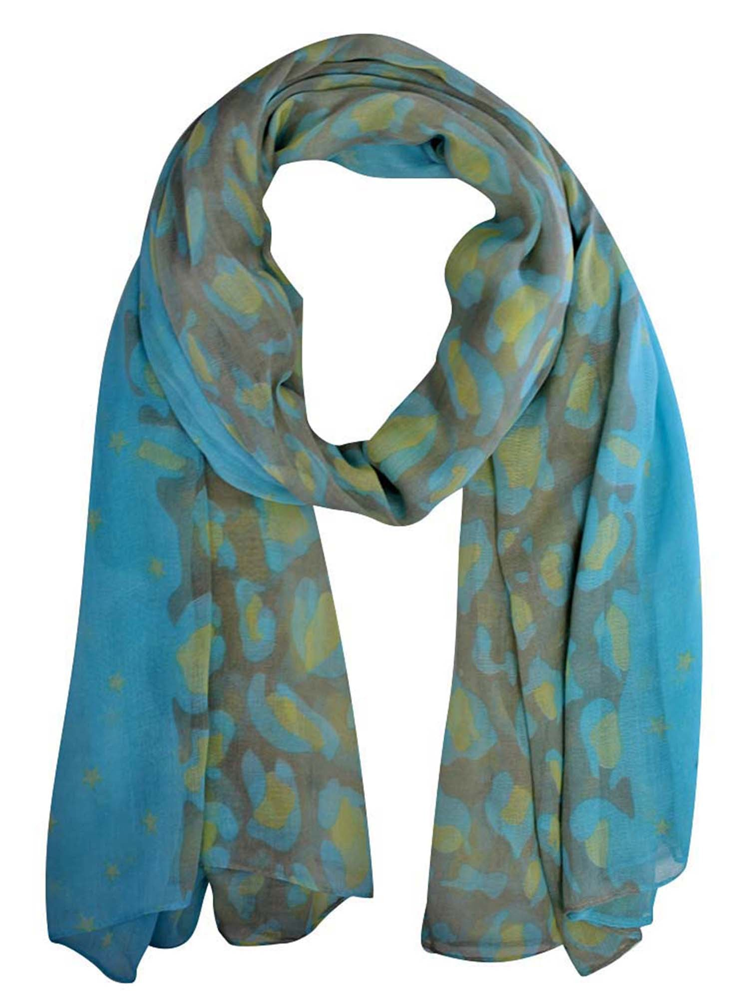 Light Leopard Print Scarf Shawl
