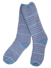 Plush & Toasty 6 Pack Striped Fuzzy Socks