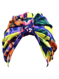 Multicolor Floral Print Turban Head Wrap For Women