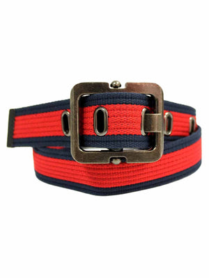 Canvas Belt With Square Buckle
