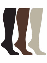 Black Beige Brown 6-Pack Compression Socks