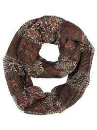 Two-Tone Knit Infinity Scarf