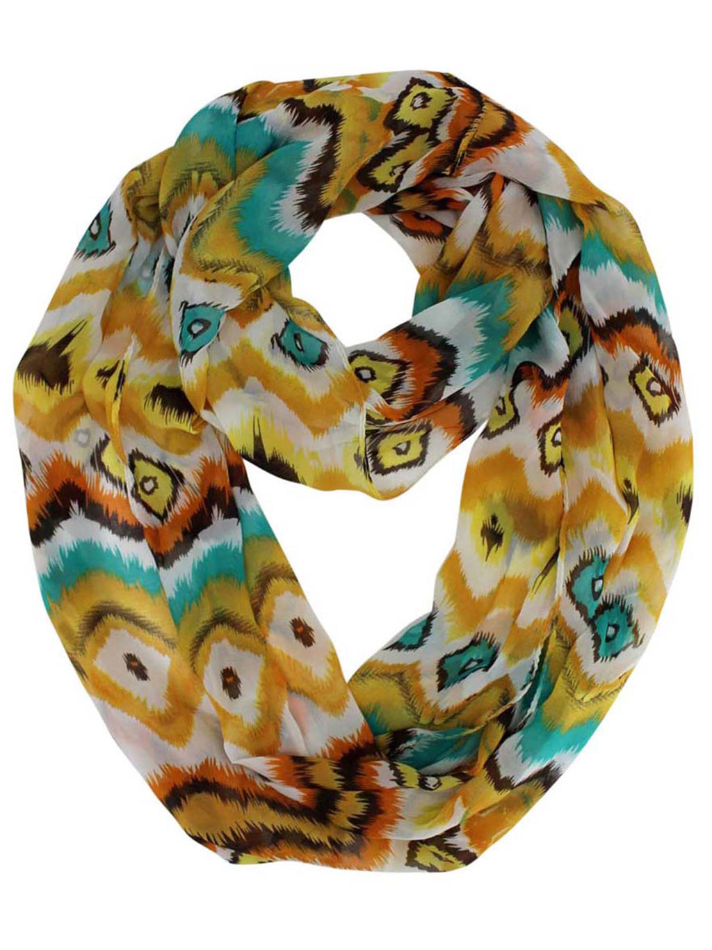 Abstract Print Infinity Scarf