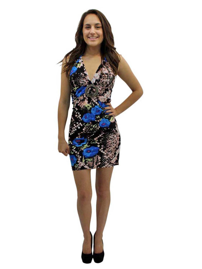 Bodycon Mini Halter Sundress