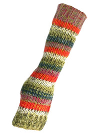 Bright Boho Multicolor Knit Long Arm Warmers