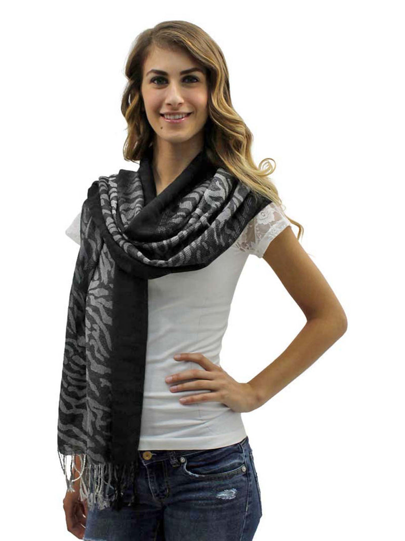 Tiger Striped Pashmina Shawl