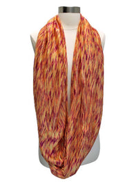 Orange Variegated Light Knit Circle Scarf