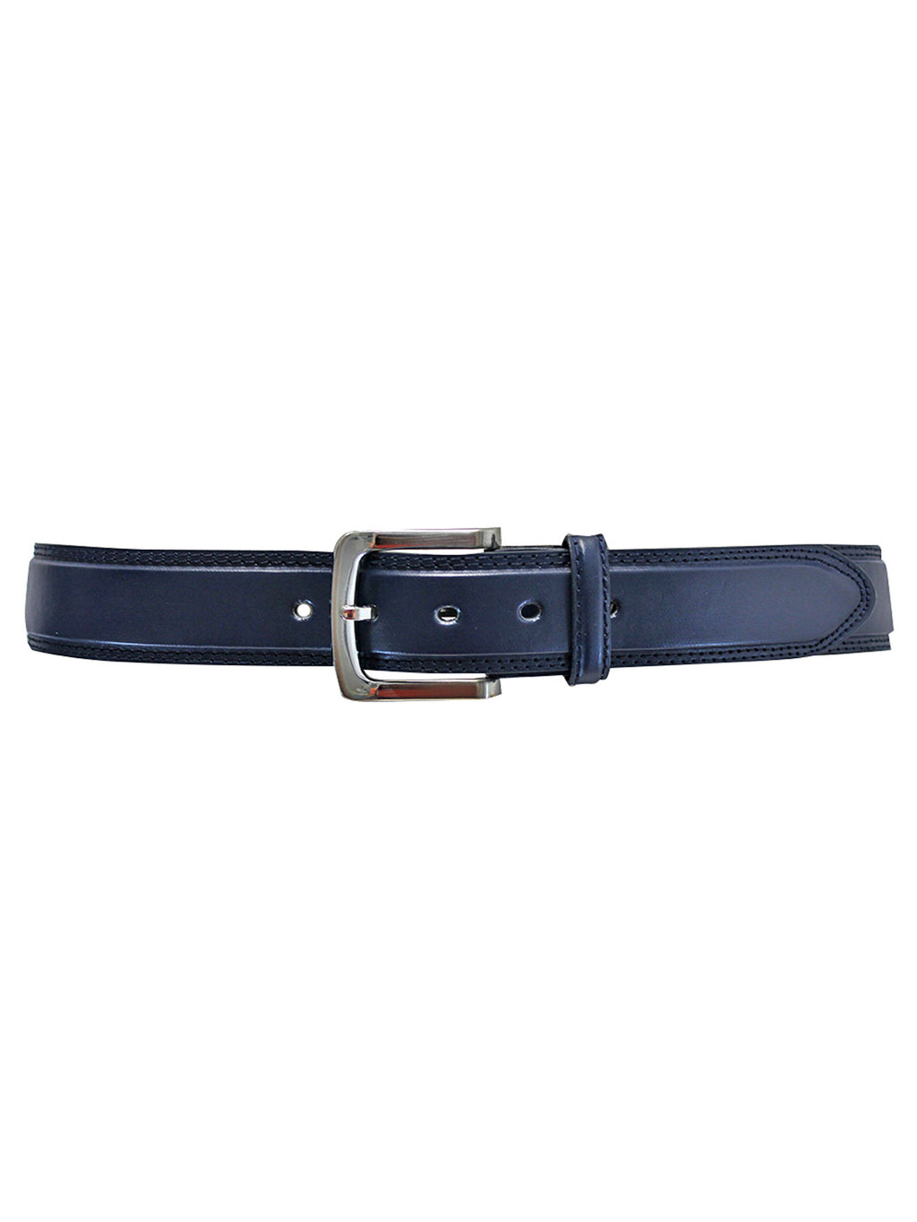 Men's Leather Belt With Silver Buckle