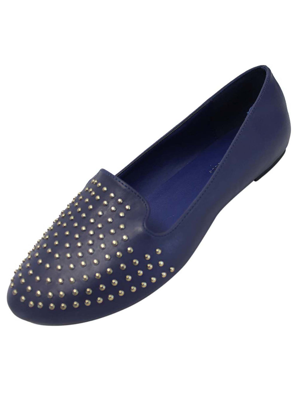 Womens Ballet Flats With Studded Toe