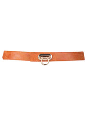 Skinny Elastic Belt With Horseshoe Buckle Clasp
