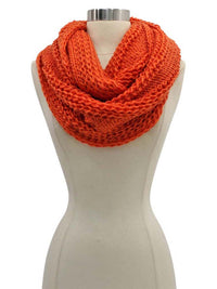 Simple Chunky Knit Unisex Winter Infinity Scarf