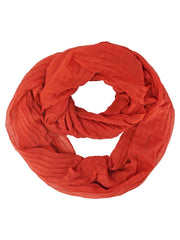 Sheer Pleated Infinity Scarf