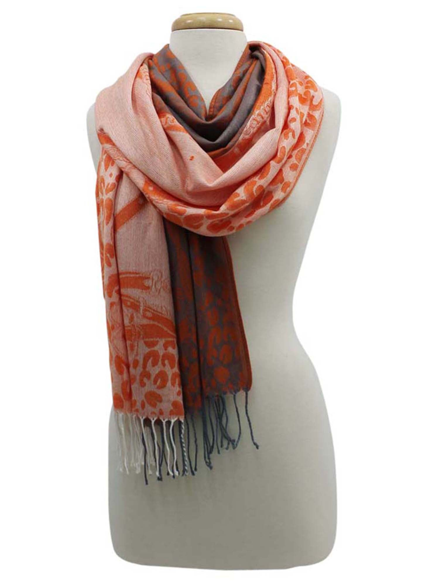 Vibrant Chain & Animal Print Shawl Wrap