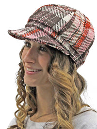 Plaid Pattern Newsboy Hat Cap