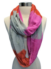 Fuchsia Gray Orange Gradient Fade Circle Scarf